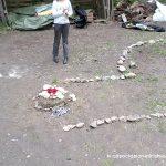 Ingresso con sacro altare dopo la capanna sudatoria